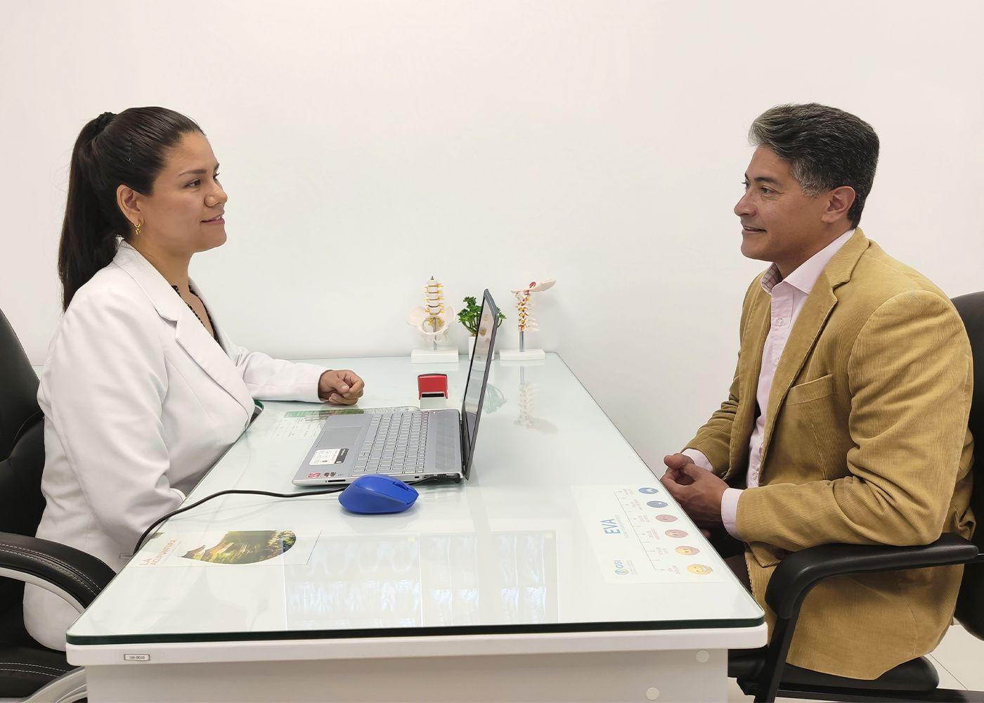 paciente con ACV en consulta medica OSI